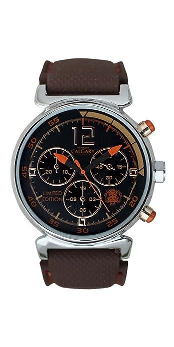 Relojes Calgary Tuareg, Reloj Deportivo para Mujer, Correa marrón de Silicona, Esfera marrón: Amazon.es: Zapatos y complementos