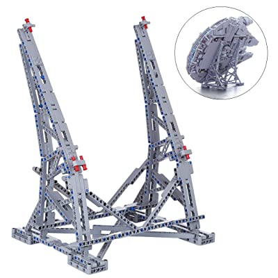 RAVPump Vertical Stand for Millennium Falcon Blocks Model - 407 Pieces Display Stand Kit Compatible with Lego 75192 ( Lego Set not Included ): Toys & Games