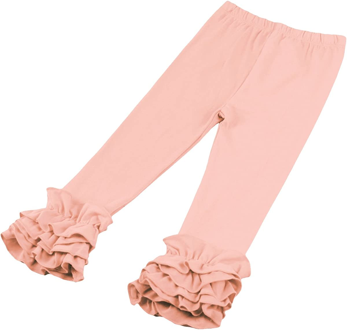 FYMNSI Toddler Baby Girl Ruffle Legging Pant Halloween Christmas Boutique Cotton Long Stripe Flower Trouser with Flare Ruffle
