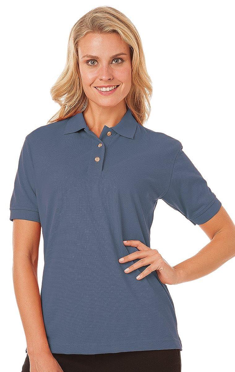 Blue Generation BG6204 Ladies Short Sleeve Superblend Pique Polo