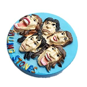 Fridge Magnet The Rolling Stones England 3D Resin Handmade Craft Tourist Travel City Souvenir Collection Letter Refrigerator Sticker