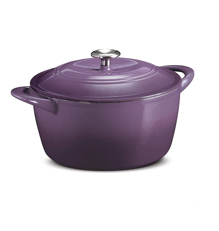Amazon.com: Tramontina 6.5 Qt Enameled Cast Iron Dutch Oven Purple ...