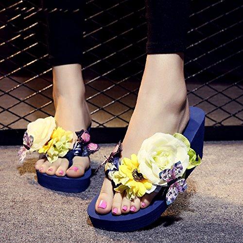 UK3 à taille pour 7cm femmes 3 5 HAIZHEN haut pantoufles EU36 femmes Couleur pantoufles chaussures 1 talon Femmes d'été Pour CN36 5A1nZqT8nx