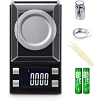 Ataller High Precision Digital Milligram Pocket Scale, 50g/0.001g Digital Jewelry Scale, Pocket Scale with Calibration Weights Tweezers, Weighing Pans, LCD Display for Gems Scale