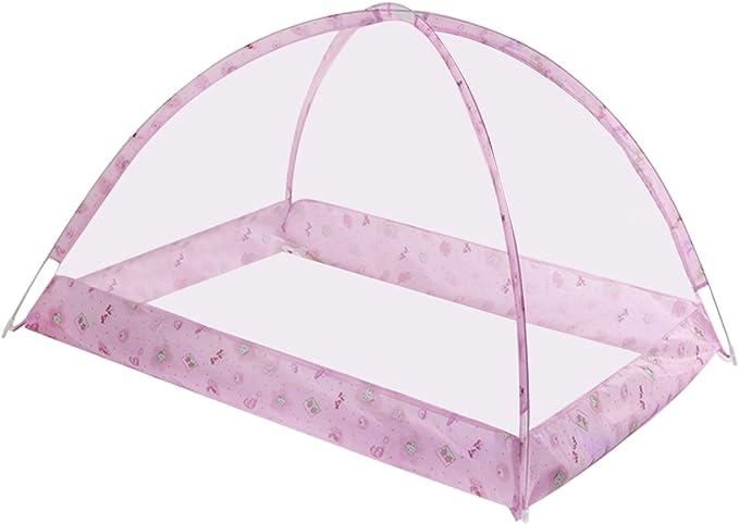 Migavenn B/éb/é Lit Moustiquaire Portable Pliant D/ét/é Dormant P/épini/ère Chambre Moustiquaire Tente Lit pour Enfants En Bas /Âge Enfants Rose
