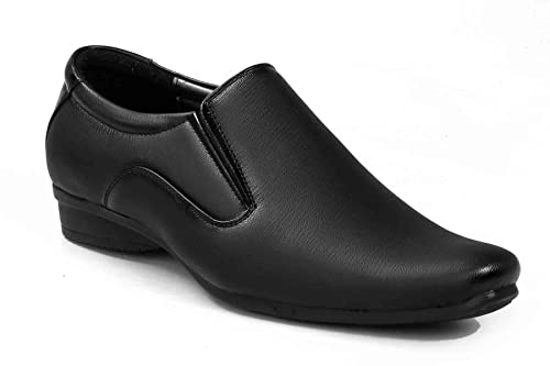 Levanse Black Synthetic Leather Formal Slip on Office  59802e3db1