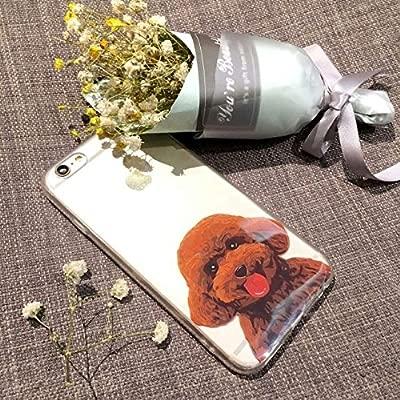 (Sleeping bear) Apple iPhone 5/S/SE Funda Carcasa,Pequeño Animal Perro Lindo De La Historieta(Caniche/Poodle) Patrón TPU Silicona Caso Funda Cover ...