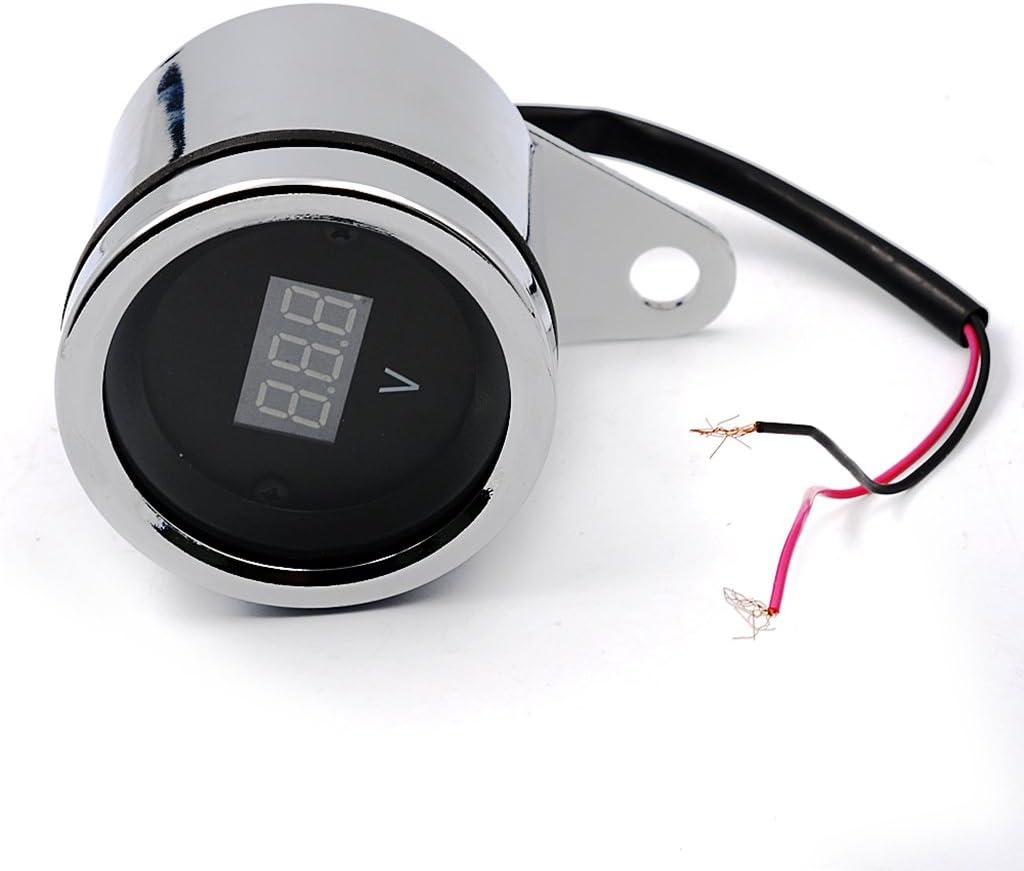 LED-Anzeige Stromanzeige Voltmeter Ampere Spannungsmesser Motorrad Auto KFZ 12V
