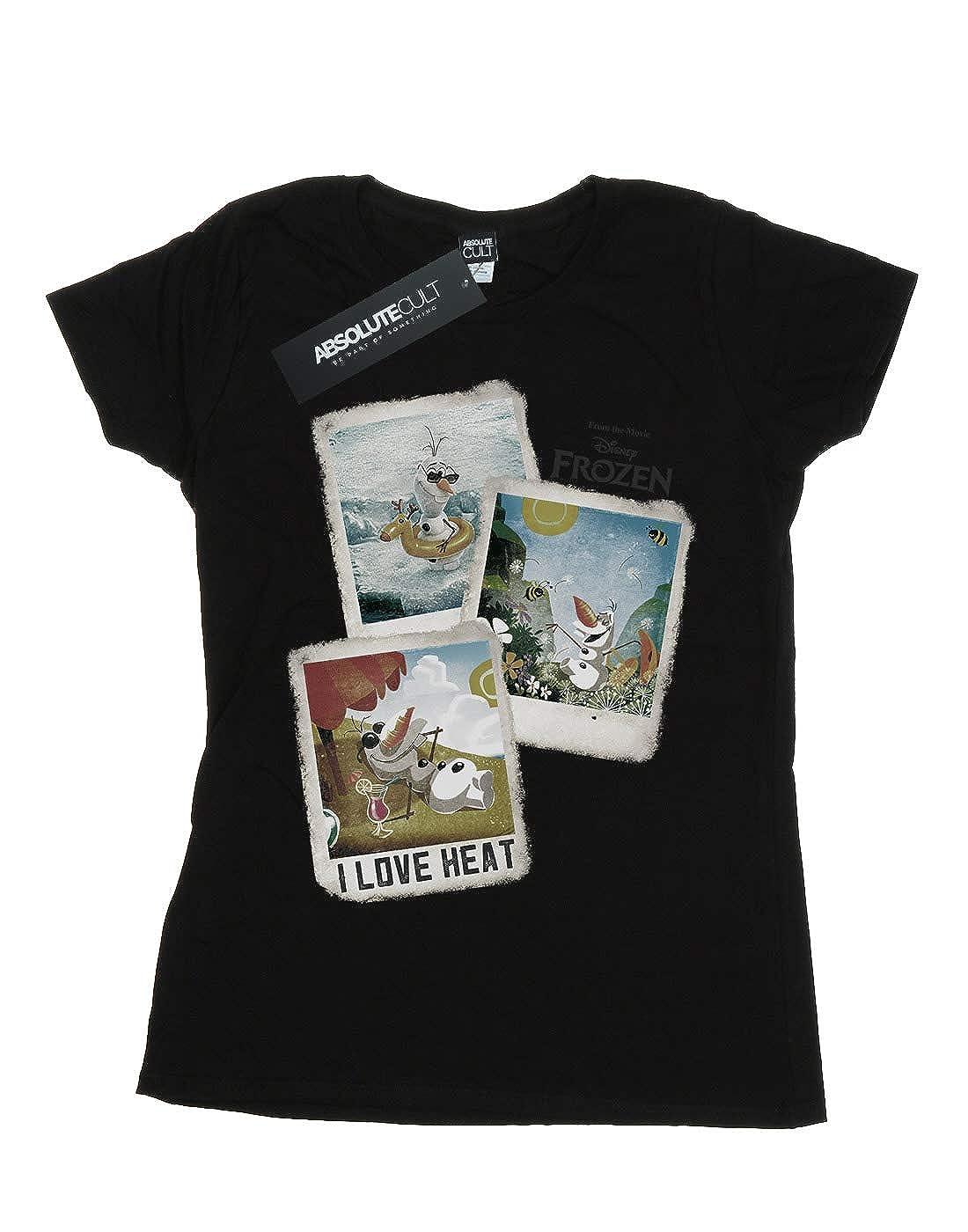 5ac99c17e96f1b Amazon.com: Disney Women's Frozen Olaf Polaroid Boyfriend Fit T-Shirt:  Clothing