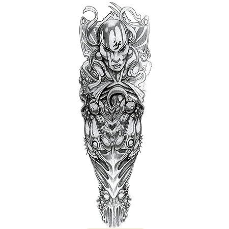 2 Unids-Brazo Completo Etiqueta Engomada Del Tatuaje Impermeable ...