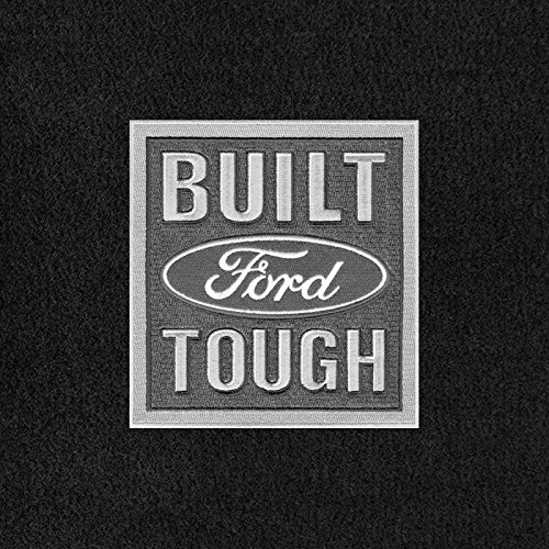 Lloyd Mats - Velourtex Ebony Front Floor Mats For Ford F-150 1970-00 with Ford Built Tough Logo ()