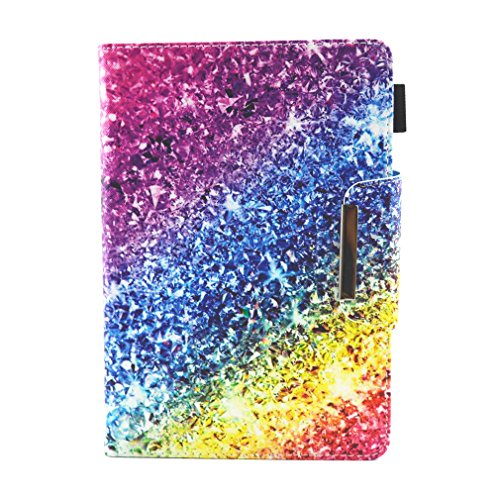 Gold Case Color Bookstyle of Pad 11 Case Unicorn PU General Tablet 7 Magnetic Leather Thin Closure Inch Card for Inch for Slot Purpose Stand Pattern Foldable LMFULM® Case 7 Ultra gHqfZ
