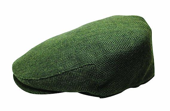 9d4ab5ea4dc Quiet Man The Irish Designed Green Herringbone Designed Flat Cap at ...