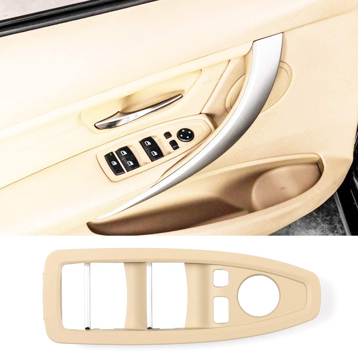 Auto styling Car inside Window Switch Armrest Panel Door Handle cover For BMW 5