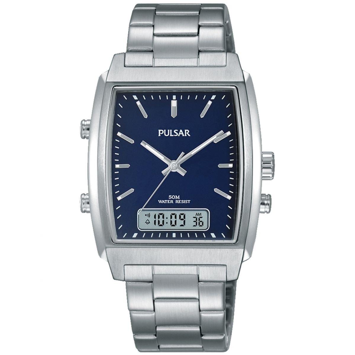 Pulsar Reloj Analógico para Hombre de Cuarzo con Correa en Acero Inoxidable PBK029X1: Amazon.es: Relojes