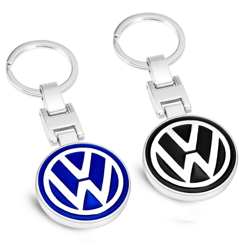 MIKAFEN - Llaveros de Coche con Emblema de Metal 3D para BMW Mercedes Benz VW Audi, For VW