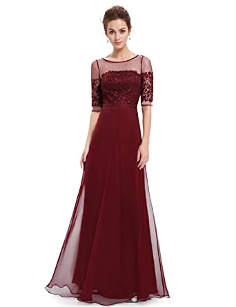 Cheap red long evening dresses uk