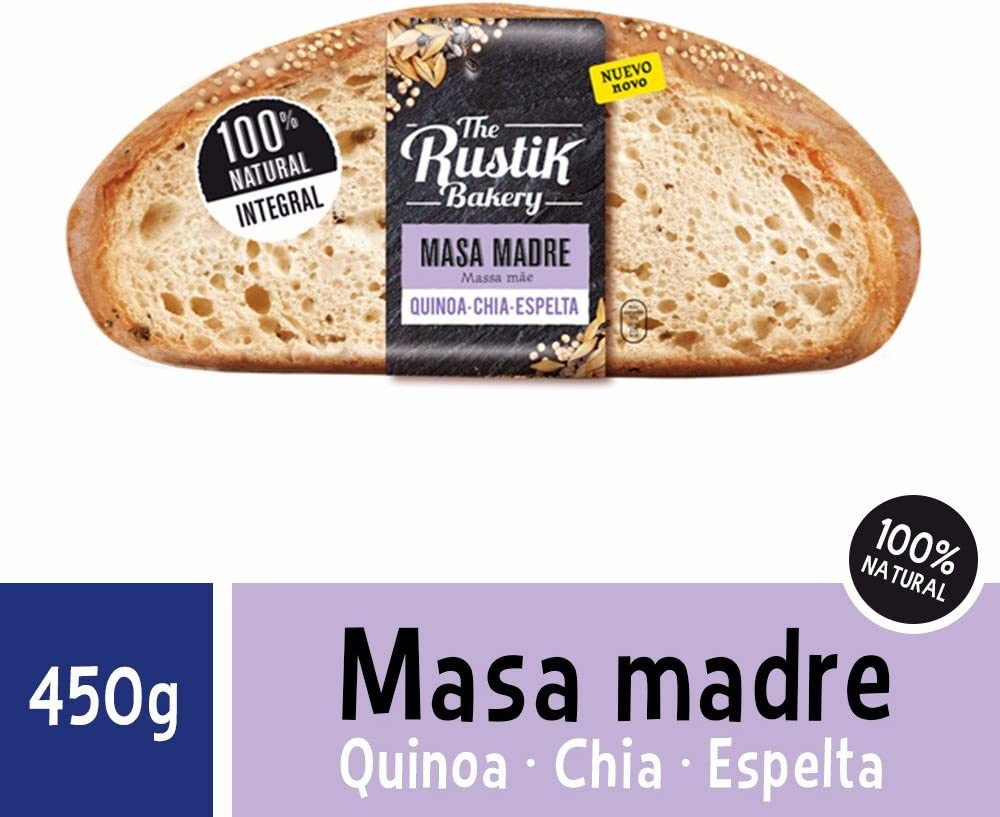 The Rustik Bakery - Hogaza masa madre, quinoa, chia y espelta, 450 g: Amazon.es: Alimentación y bebidas