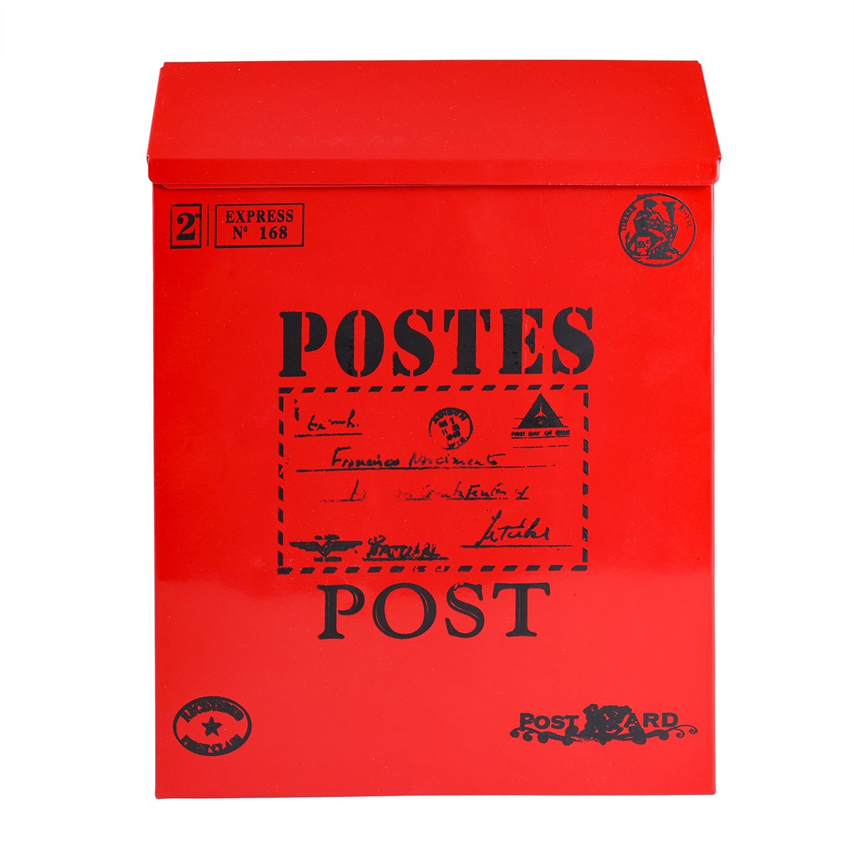 VORCOOL Cassette postales con fijació n a pared con bloque de rojo