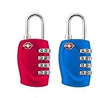 2-pack,TSA Aprobado cerraduras de combinación de 4 dígitos