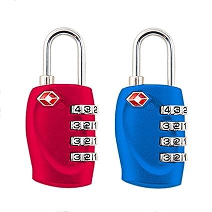 2-pack,TSA Aprobado cerraduras de combinación de 4 dígitos – resistente y de