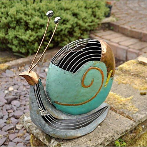 Caracol de Metal Rústico - Peculiar Adorno Antiguo Vintage para Amantes del Jardín - Escultura Decoración del Hogar - Tamaño: 34 x 36 x 16CM: Amazon.es: Jardín