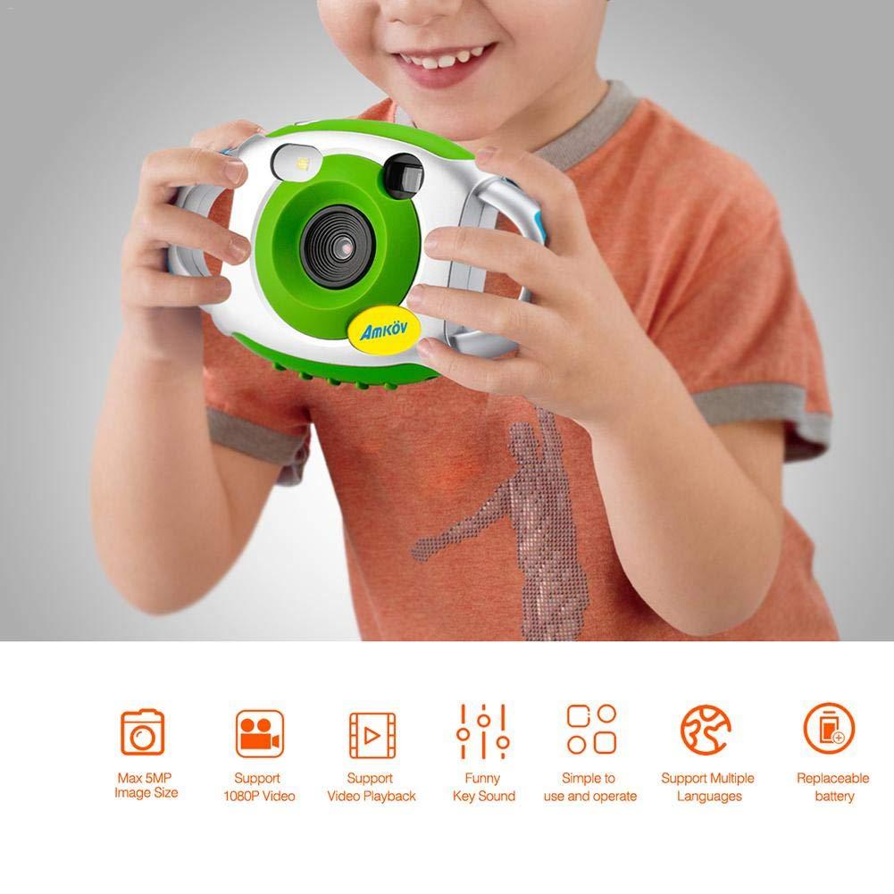 AMKOV Kids Digital Camera Mini Projection Action Videoc/ámara C/ámara innovadora para ni/ños