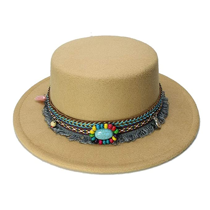 GHC gorras y sombreros Chica Fedora Pork Pie Porkpie Bowler Hat Moda Kid Lana de ala