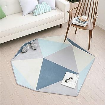KOOCO Modern Skandinavisch Mit Geometrischen Formen Lliving Wohnzimmer Teppich Einfach Nachttisch Beistelltisch Schlafzimmer Sofa