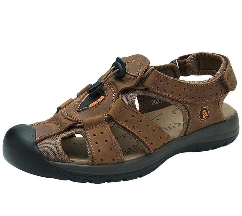 Insun aire libre senderismo sandalias de piel Para Hombre 40 EU marrón