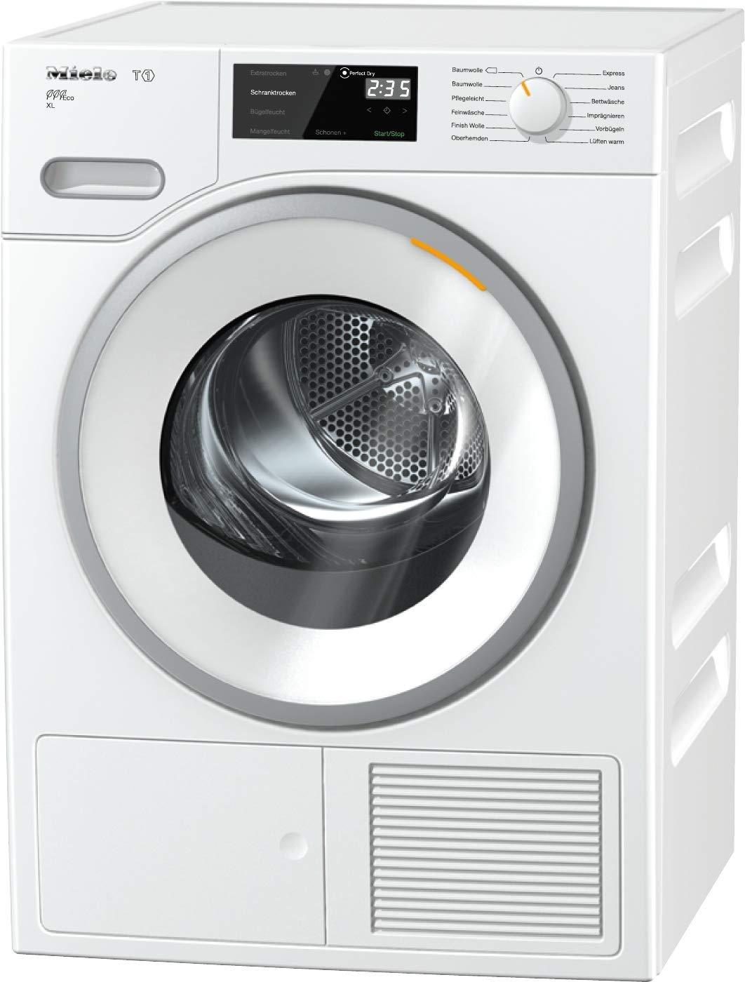 Miele TWH 620 WP Wärmepumpentrockner/A+++ (193kWh/Jahr)/mit 9kg Schontrommel/mit Duftflakon für frisch duftende Wäsche/Wäschetrockner mit Startvorwahl und Restzeitanzeige/wartungsfreier Wärmetauscher [Energieklasse A+++] 10963750