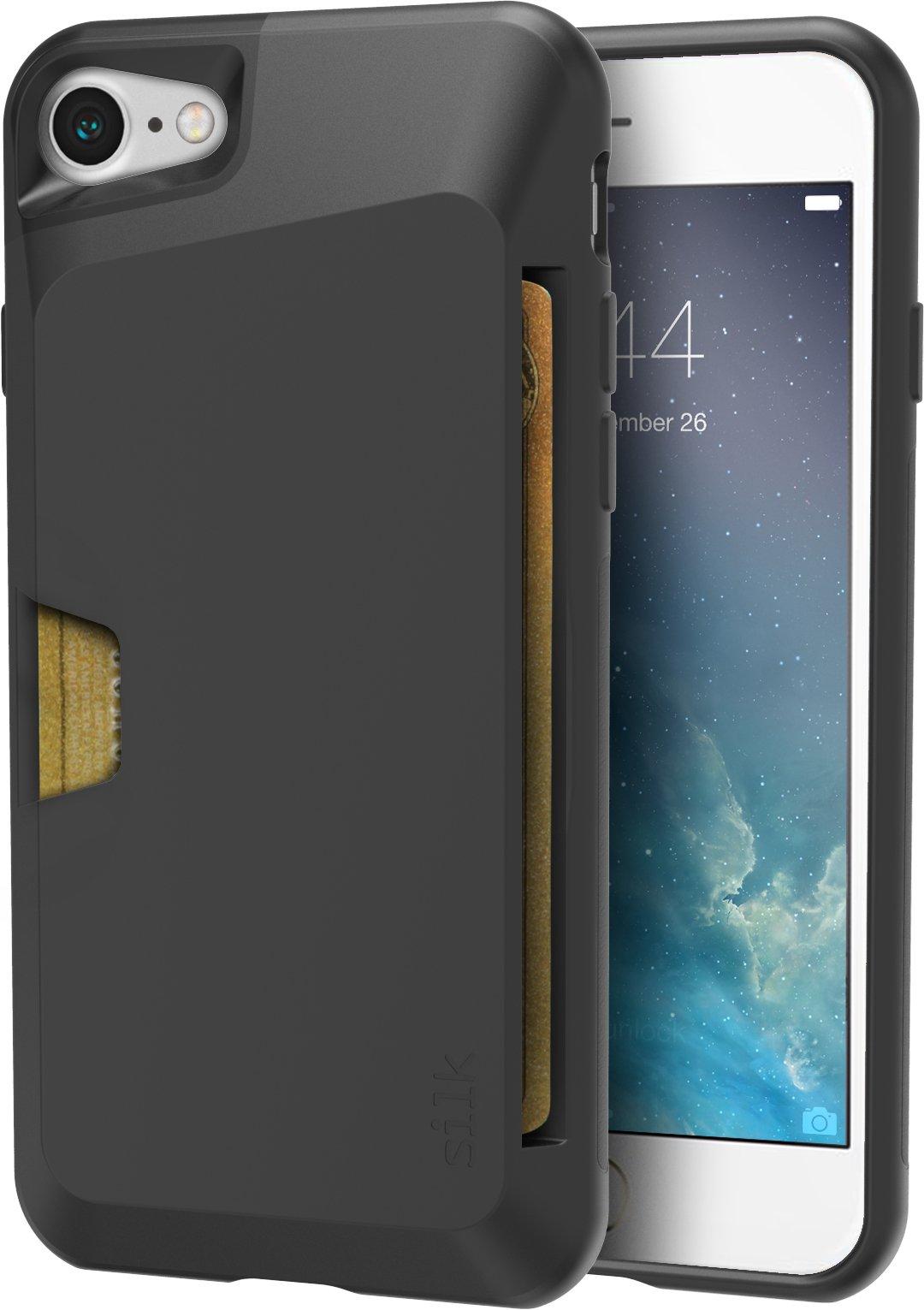 Silk iPhone 7/8 Wallet Case - VAULT Protective Credit Card Grip Cover -''Wallet Slayer Vol.1'' - Black Onyx
