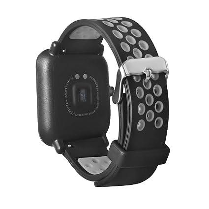 Malloom Ligero ventilar agujeros Smart pulsera correa para ...