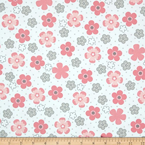 Flannel Daisies - Robert Kaufman Kaufman Cozy Cotton Flannel Daisy Flower Pink Fabric By The Yard, Pink