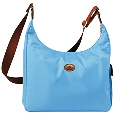 Longchamp 2450089072 Le Pliage Hobo Messenger Bag - Azure Blue