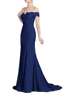 643f2bd092c Half Flower Bridal Hors épaule sirène robe de demoiselle d honneur dentelle  formelle robe de