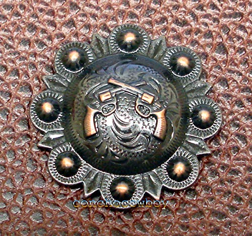 (Conchos for Clothes Western Headstall Saddle TACK Copper Pistols Berry Conchos 1-1/2