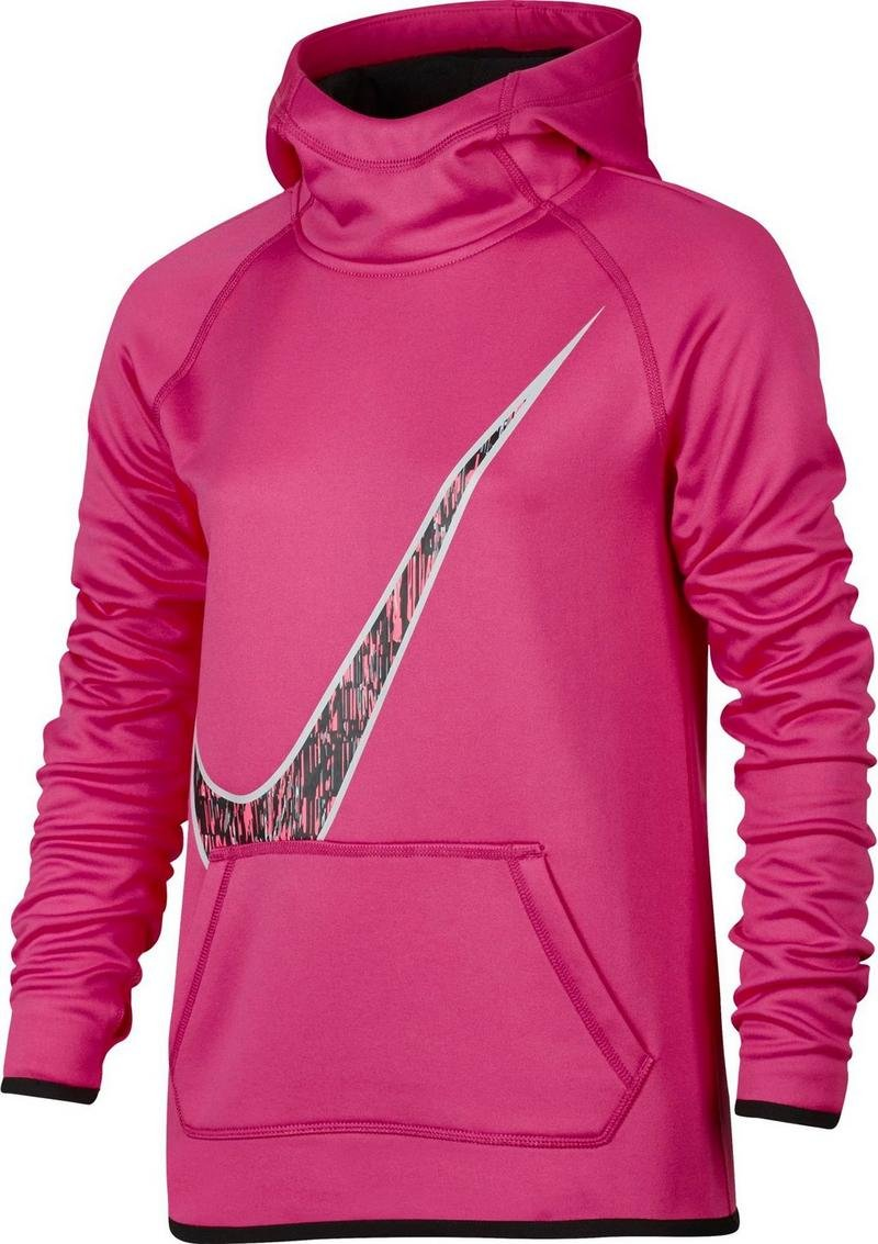 NIKE GIRLS' THERMA SWOOSH GFX HOODIE PINK by NIKE