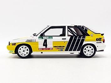 Otto Mobile - R11 Turbo Rally de Portugal 1987 Renault, ot692, amarillo/blanco/negro, en miniatura (escala 1/18: Amazon.es: Juguetes y juegos
