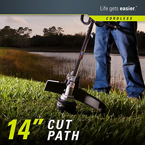 Greenworks 14-Inch 40V Cordless String Trimmer (Attachment Capable), 4.0 AH Battery Included 21362 by Greenworks (Image #3)