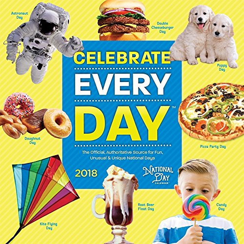 National Day 2018 12 x 12 Inch Monthly Square Wall Calendar, Holidays Everyday