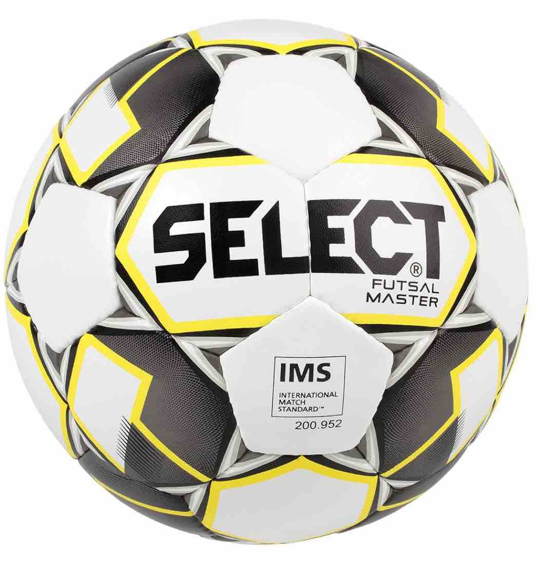 Select Master Ballon de Futsal Adulte Unisexe, White/Yellow/Black, Official Size