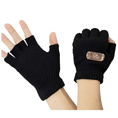 DAZCOS Kakashi Kid Gloves Cosplay Costume (Black): Clothing