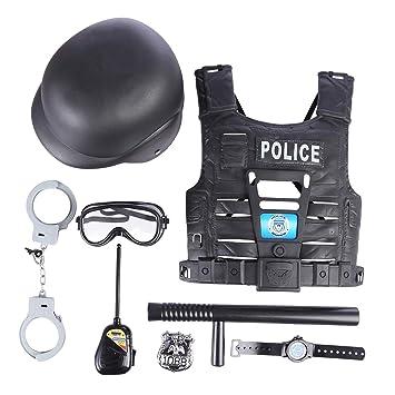 De A Rol Viste Juguetes La Juego Foxom Policiales8pcs Policía Set rdBxoeCQW