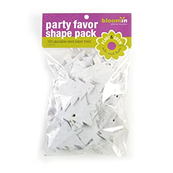 Bloomin Seed Paper Shapes Packs Embedded With Evergreen Tree Seeds 100 Shapes Per Pack