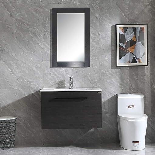 WONLINE 32″ Bathroom Vanity Set Wall Mounted Cabinet