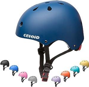 CELOID Kids Bike Helmet,Toddler Skateboard Helmets for Ages 2-3-5-8-14 Years Boys Girls,Adjustable Multi-Sport Bicycle Skateboarding Football Roller Skating Scooter Rollerblade Balance Bike Helmet