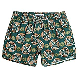 MaaMgic Mens Short 80s Original Swim Trunks with Mesh Lined 4 Way Stretch Quick Dry Vintage Swim Trunks Bathing Suits 854131