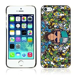 CQ Tech Phone Accessory: Carcasa Trasera Rigida Aluminio PARA Apple iPhone 5 5S - Badass Graphiti Monkey Pattern