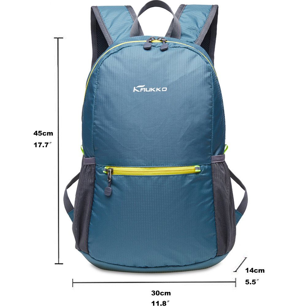 KAUKKO Laptop Outdoor Backpack, Travel Hiking& Camping Rucksack Pack, Casual Large College School Daypack, Shoulder Book Bags Back Fits 15'' Laptop & Tablets (01GREEN) by KAUKKO (Image #2)